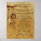Native American Ten Commandments poster