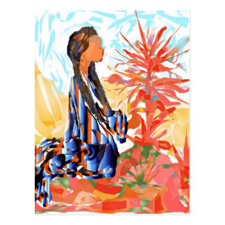 """Native American """"The giving Tree"""" Postcard"""