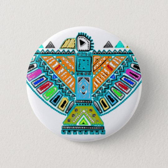 Native American Totem 2 Inch Round Button