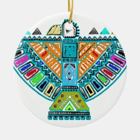Native American Totem Ceramic Ornament
