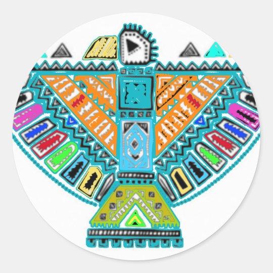 Native American Totem Classic Round Sticker