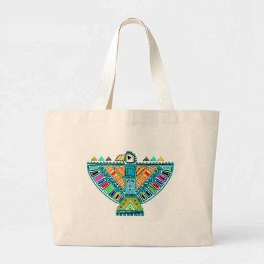 Native American Totem Large Tote Bag