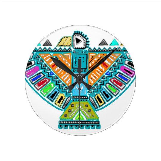 Native American Totem Round Clock