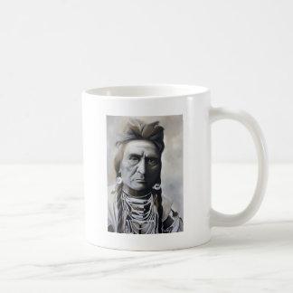 Native American Tribal Chief White Mug