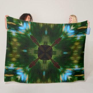 Native American Tribal Shield Mandala Quilt Fleece Blanket