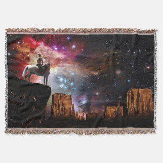Native American Universe Woven Throw Blanket