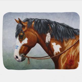 Native American War Horse Baby Blanket