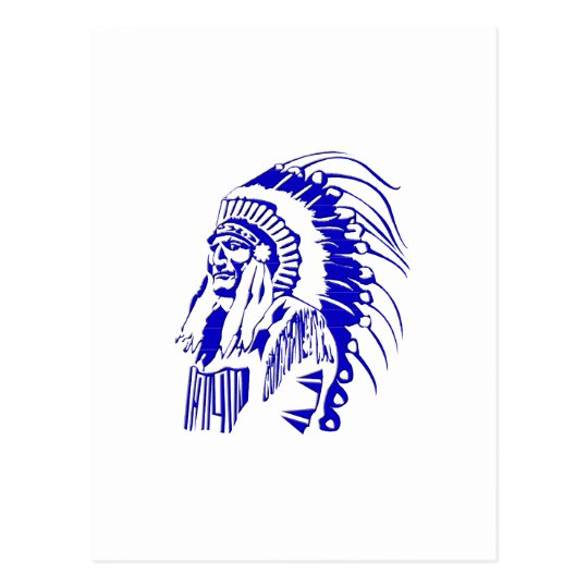 Native American Warrior #4 Postcard