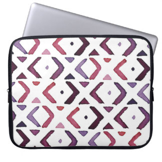 Native American Watercolor Pattern Laptop Sleeve