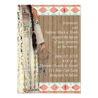 Native American Wedding Invitation with Bride