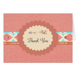 Native American Wedding Thank You Card