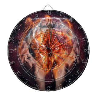 Native American Wolf and Tipi Dartboards