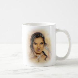 Native American Woman Basic White Mug