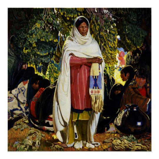 native american woman poster