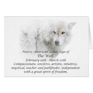 Native American Zodiac Sign The Wolf Card