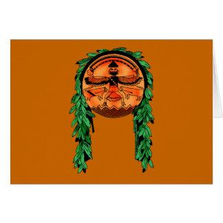 Native American Zuni Shield Card