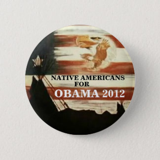 Native Americans for Obama 2012 2 Inch Round Button