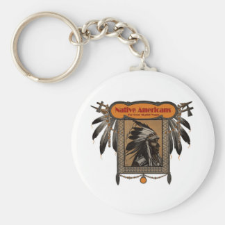 NATIVE AMERICANS For Over 10,000 Years Keychain