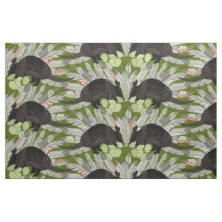 native armadillos green fabric