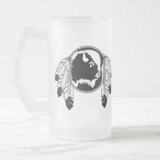 Native Art Beer Mug Wildlife Art Metis Glass Mug