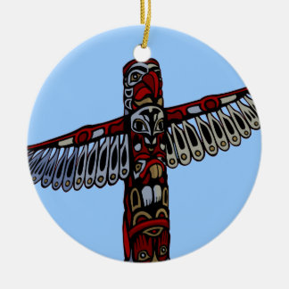 Native Art Decorations Totem Pole Ornament Souveni