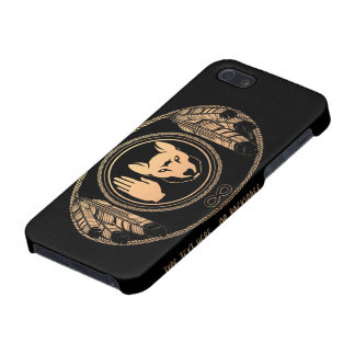 Native Art Wolf Flag iPhone 5 Case Rebellion Case