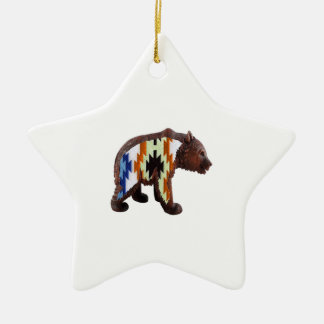 Native Bear Ceramic Star Ornament