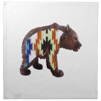 Native Bear Napkin