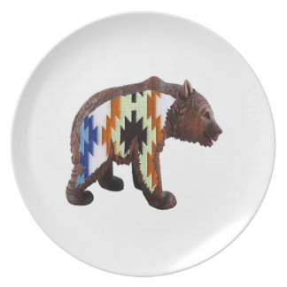 Native Bear Party Plates