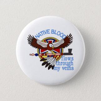 Native Blood 2 Inch Round Button