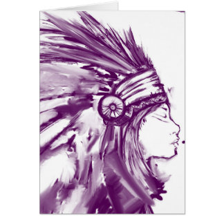 Native ceremonial water mark Greeting Card