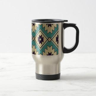 Native Chieftain Pattern Travel Mug
