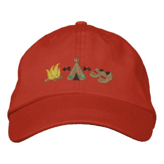 Native Collage Embroidered Hat