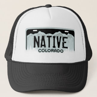 Native Colorado black license plate souvenir hat