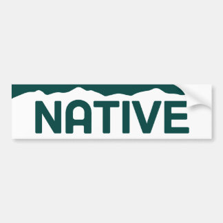 Native Colorado Bumper Sticker