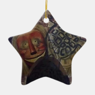 Native Crazy Quilt Ceramic Star Ornament