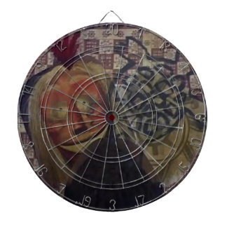 Native Crazy Quilt Dartboard With Darts