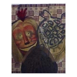 Native Crazy Quilt Letterhead