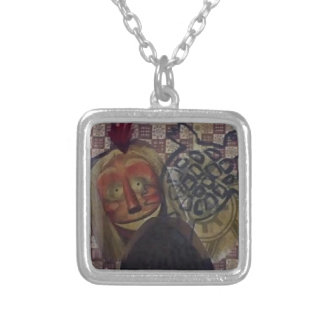 Native Crazy Quilt Silver Plated Necklace