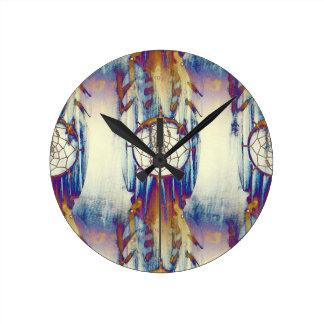 Native Dreams Round Clock