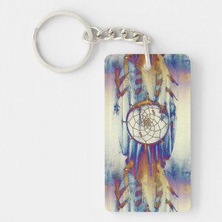 Native Dreams Single-Sided Rectangular Acrylic Keychain