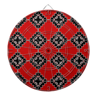 Native ethnic pattern dartboard