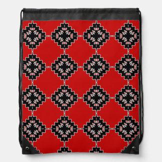 Native ethnic pattern drawstring bag