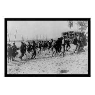 Native Festival on Honolulu 1913 Poster