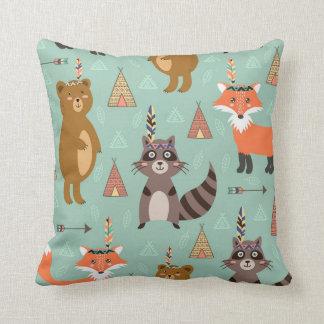 Native Forest Friends Pillow