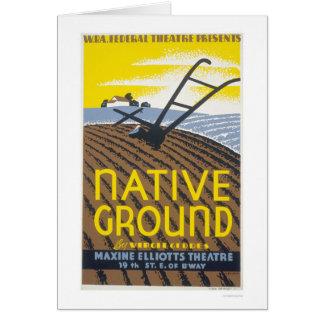 Native Ground Farmhouse 1936 WPA Card