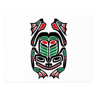 Native Haida Art Frog - black on white Postcards