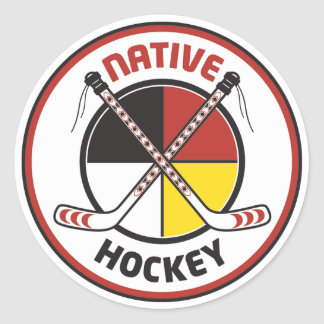 Native Hockey Stickers