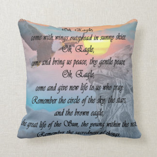 Native Indian, American Indian Eagle Prayer Pillow
