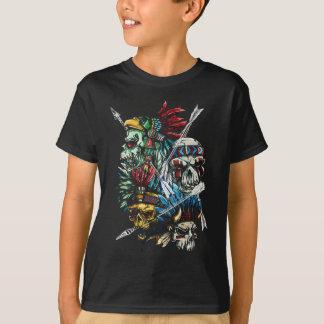Native Indian Skull Skeleton T-Shirt